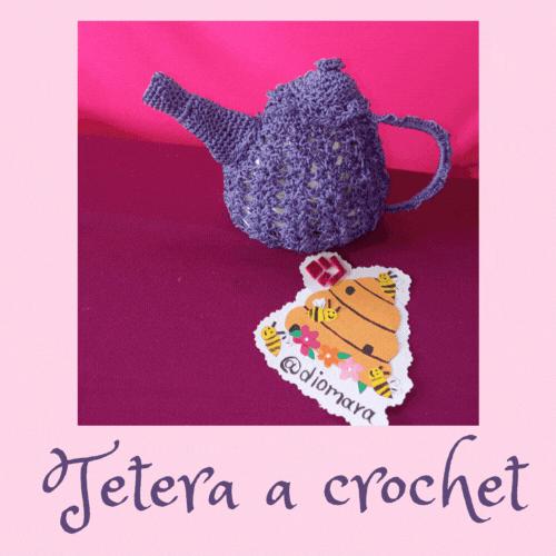 [Esp-Eng] Tutorial de como realizar una hermosa tetera a crochet. by: @diomara