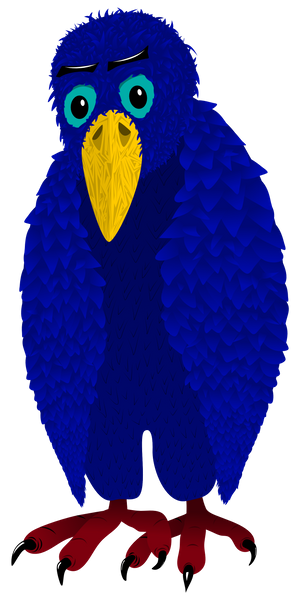 Drawing of a blue bird