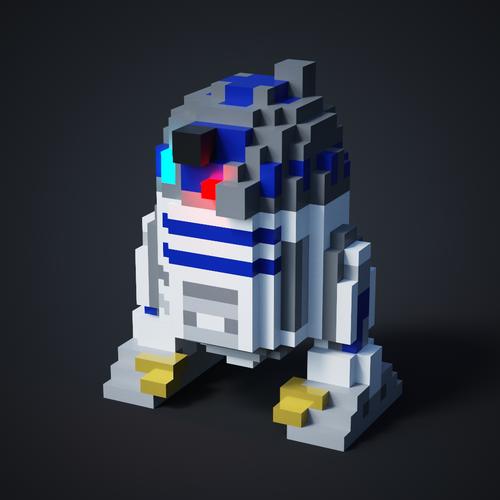 Starwars R2D2 Classic (Pixelart)