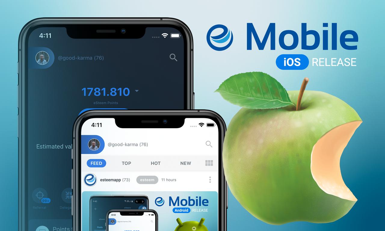 eSteem iOS release steemit mobile