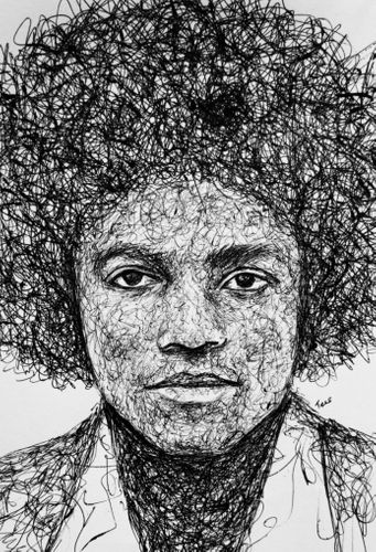 My Scribble Drawing Of Michael Jackson (Afro HairStyle)