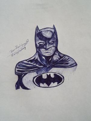Dibujo al caballero de la noche Batman [Spa-Eng]