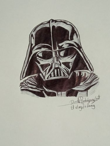 Drawing darth vader Star wars.