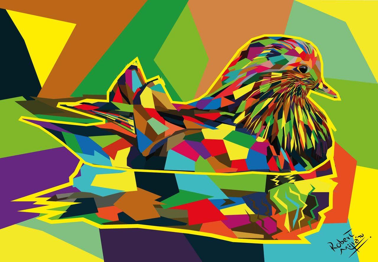 Pato Mandarin Wedha Pop Art.jpg