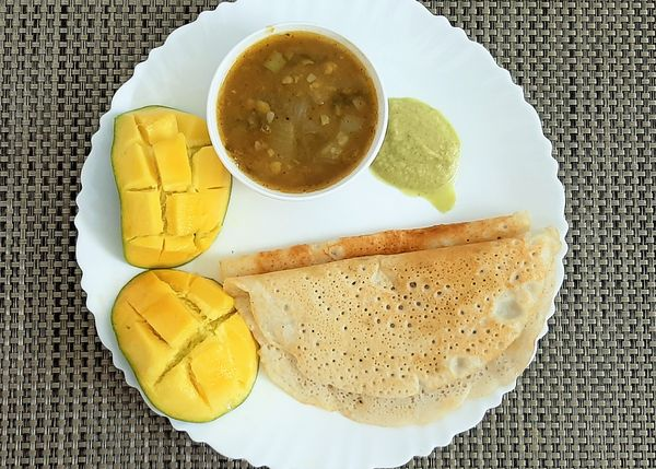 Dosa, an authentic Indian vegan meal: ecoTrain Simple Vegan Cooking On A Budget Month!