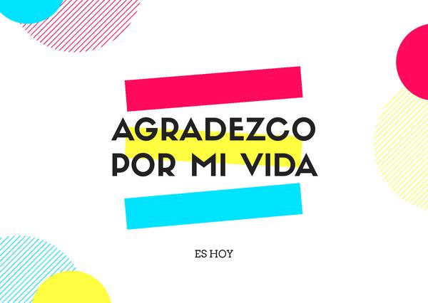 [ESP-ENG ] Agradezco mi vida/I'm grateful for my life