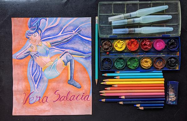Splinterlands Art Contest // Vera Salacia + GiF (BiLiNGUAL)