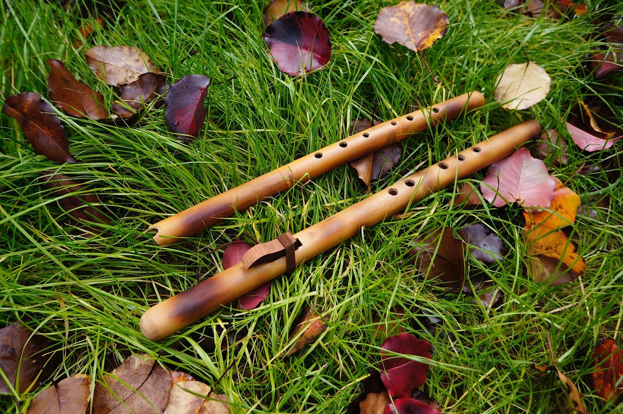 Native American style flute and Andean Quena