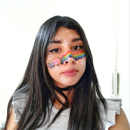 Nyan cat makeup