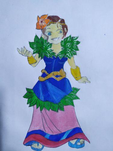 My Drawing of LYANNA NATURA. Splinterlands Contest.