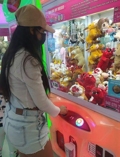 I tried my luck in an arcade claw machine