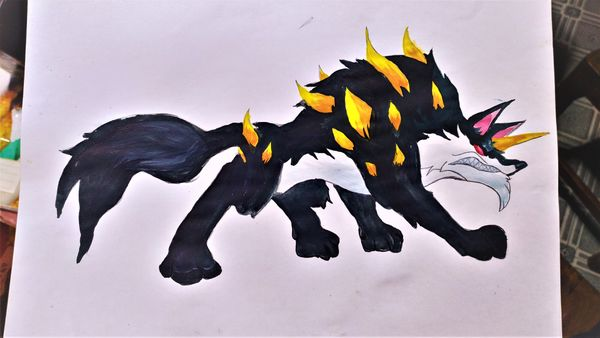 My Drawing of The SPINEBACK WOLF.