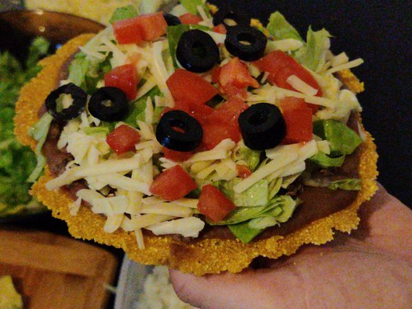 Lunch, Recreating the Beefy Tostada from Sratch.