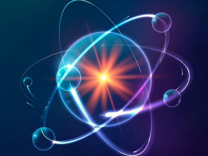 stylized atom render