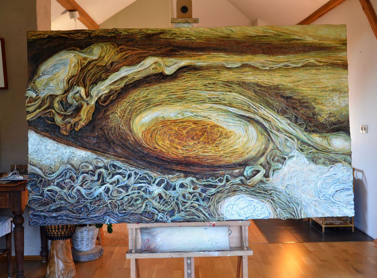 Czerwona plama na Jowiszu 150 x 90 cm.JPG