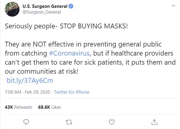 Stop Buying Masks Surgeon General.PNG