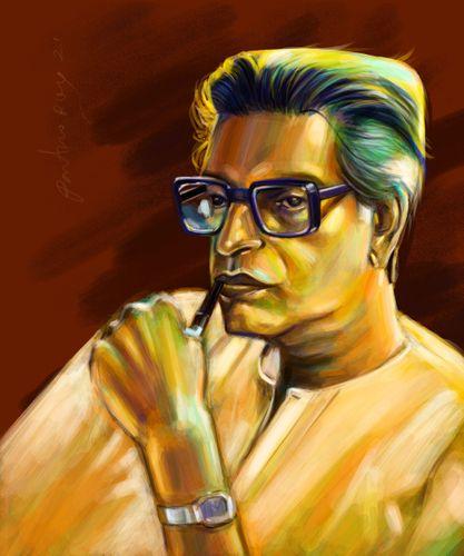 tribute to Satyajit Roy/ Portrait Study