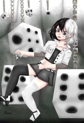 The fate of the dice | El destino de los dados [Eng/Esp] (Draw/Dibujo)