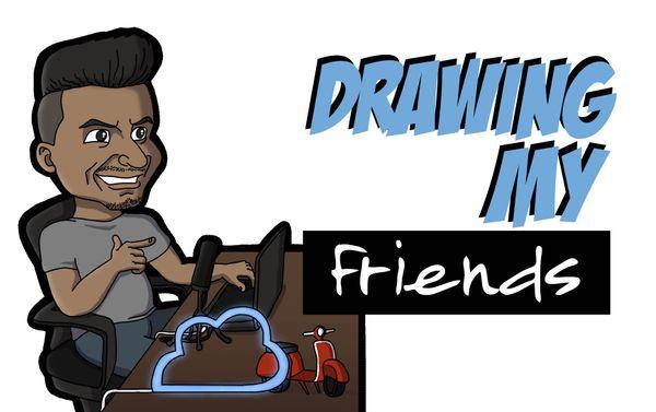 [ENG|ESP] Drawing my Friend Leunam | Dibujando a mi Amigo Leunam.