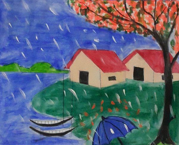 the rainy season of Bangladesh & rainy season natural seeing.