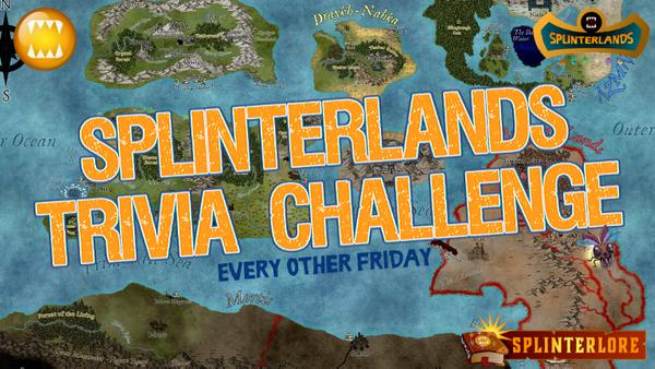 SPLINTERLANDS TRIVIA CHALLENGE - RANDOM WINNER!
