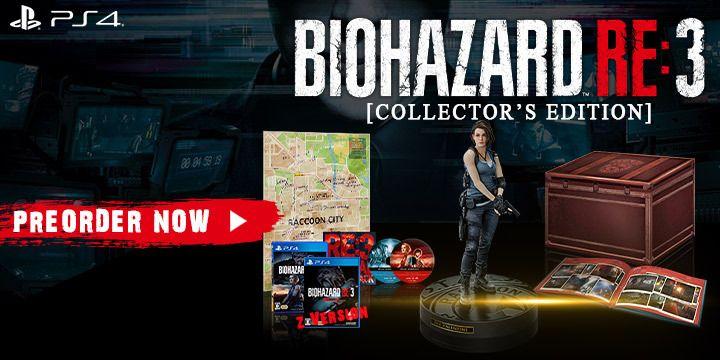 Resident Evil 3, Resident Evil 3 Remake, Resident Evil, BioHazard RE: 3, Capcom, Biohazard Resistance 3, Pre-order, Japón, EE. UU., Europa, PS4, PlayStation 4, Xbox One, XONE